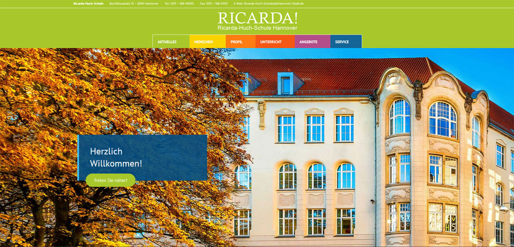 Die RICARDA-Website