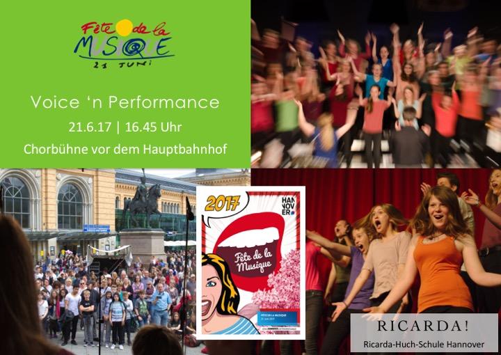 """Voice 'n Performance bei der """"Fête de la Musique"""""""