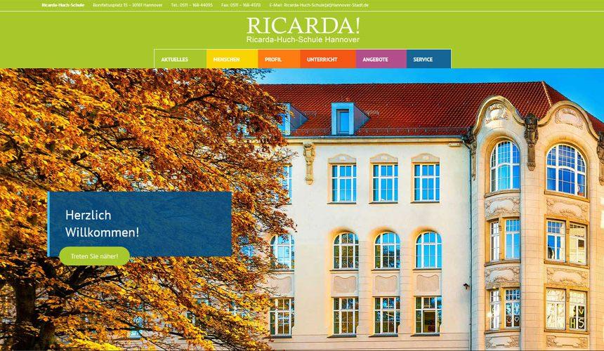 Die RICARDA-Website