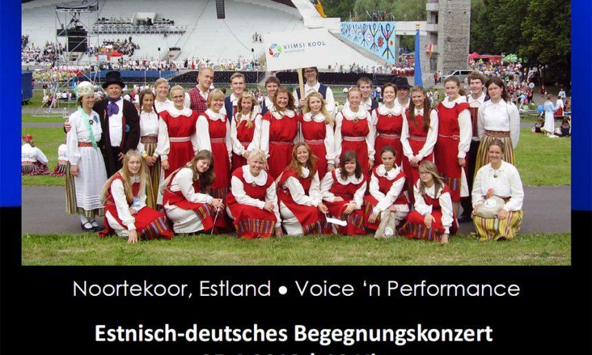 Begegnungskonzert zwischen dem Noortekoor aus Estland und Voice 'n Performance