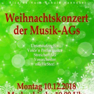 Weihnachtskonzert der Musik-AGs