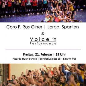 Spanischer Chor singt mit Voice'n Performance