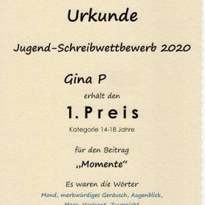 Schülerin des 12. Jahrgangs belegt 1. Preis bei Schreibwettbewerb